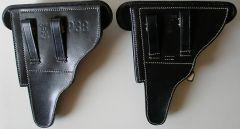 Кобура кожаная для пистолета  Luger P-08.