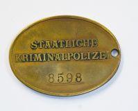 Жетон криминальной полиции Германии(Продан)
