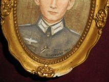 Портрет в рамке офицера Вермахта.